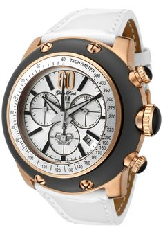 0e76be8664a9 Click Image Above To Purchase  Glam Rock Race Track Chronograph Patent  Shiny White Leather Watch