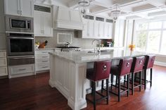 White Kitchen designed by Koffeetree Art & Design