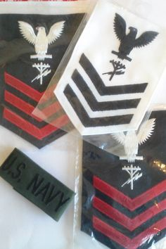 US Navy Military Patches / Lot of 4 by JulesCristenVintage on Etsy