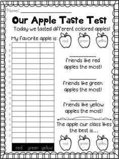 TONS of FREE activities for an apple unit or apple theme!