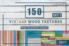 150 Vintage Wood Textures Set1 by FWStudio on @creativemarket