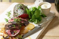 Beef fillet with truffle mayonnaise