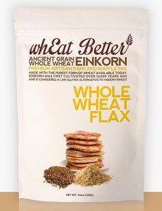 Whole Wheat & Flax EINKORN pancake/waffle mix. www.whEatBetter.com/shop/