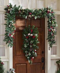 Jingle Bells Holiday Christmas Floral 9' Garland