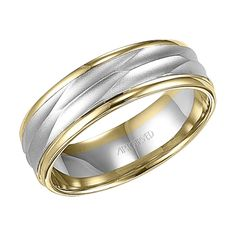 7MM two tone, comfort fit, engraved wedding band