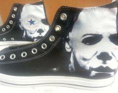 Halloween Michael Myers Custom Converse All Stars
