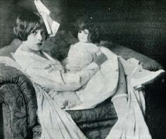 petite Miss Anita Loos makes a big chair look like a couch. thank you Kathryn Masterson board.