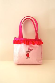 Piglet Inspired Tote Bag add a ruffle to the top