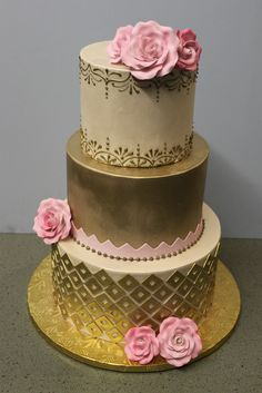 Gold and Pink Deco