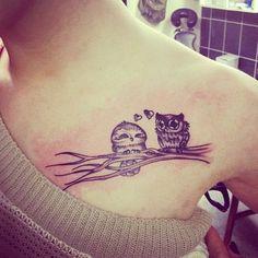 40 Cute Owl Tattoo Design Ideas // May, 2020 Owl Tattoo Design, Tattoo Designs, Cute Owl Tattoo, Pretty Tattoos, Tatoos, Owl Tattoos, Tatting, Portraits, Design Ideas