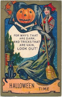 Vintage Halloween Poster Made From Circa 1910 Postcard Sexy Vain Witch 18 Retro Halloween, Vintage Halloween Posters, Victorian Halloween, Halloween Snacks, Holidays Halloween, Baby Halloween, Halloween Moon, Paper Halloween, Pirate Halloween