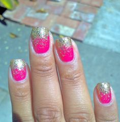 Pink and gold #nails
