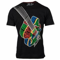 f080ce986ac This Huetrap tee features an acoustic guitar in multiple colours.   mensfashion  graphictees Shirt