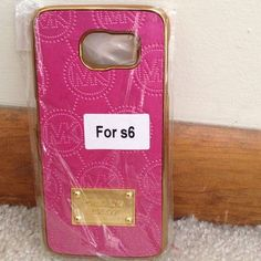Pink Mk Samsung s6 case back hard case New all colors in pic available Accessories Phone Cases