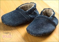 Denim for Boys and Girls - Eco Friendly Baby Booties by HappySolez