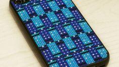 Tessellating TARDIS iPhone Case Cross-Stitch Pattern