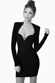 interesting neckline - Little black dress http://LooksBook.cz