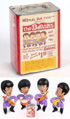 Nestle's Quik 1966 Inflatable Beatles promotion
