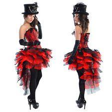 Halloween ball black red dress up bustle skirt sizes 6-16 burlesque masquerade