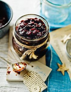 Mulled cranberry and red onion chutney. This Christmas chutney from Lucy Jessop at Sainsbury's magazine is delicious with a cheeseboard or served with cold cuts Edible Christmas Gifts, Vegan Christmas, Xmas Food, Edible Gifts, Christmas Cooking, Christmas Roast, Jam Recipes, Canning Recipes, Canning Tips