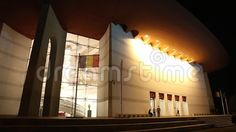 National Theatre Ion Luca Caragiale in Bucharest, Romania night. Bucharest Romania, National Theatre, Scene, Architecture, Night, Photography, Arquitetura, Photograph, Fotografie