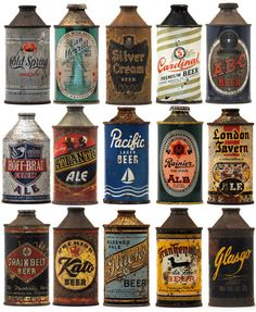 vintage beer bottles photographed by Lance Wilson  Dan Becker (via Dietline) // posted by james @ hard graft