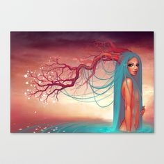 The muse of the lake Canvas Print by Sonia MS - $85.00