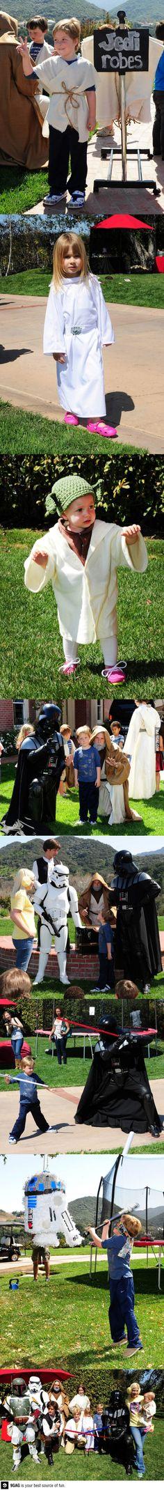Amazing Star Wars themed birthday party!