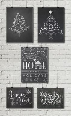 12 Free Christmas Chalkboard Printables • Little Gold Pixel                                                                                                                                                                                 More