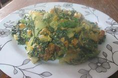 Wild Mustard Greens and Sweet Potatoes with Cashew Cream Sauce Recipe- Paleo, Vegan, and Super Frugal