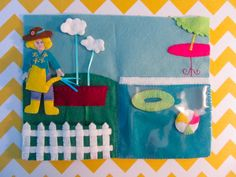 Dollhouse Backyard quiet book page