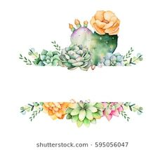 """""""World of succulent and cactus"""" high quality handpainted watercolor collection! Watercolor collection with 34 separate elements (branches, cacti, succulent Succulent Bouquet, Framed Quotes, Create Invitations, Wedding Frames, Planting Succulents, Indoor Succulents, Royalty Free Images, Greeting Cards, Place Card Holders"""