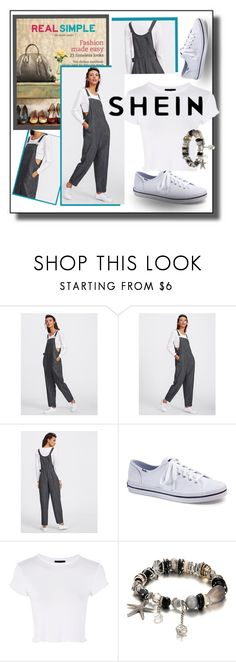 """Shein Overalls"" by jroy1267 on Polyvore featuring Keds, Topshop and shein"