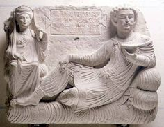 Bild: Anonymous - Couple at a banquet, tomb find from Palmyra,Syria