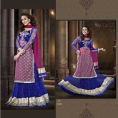 Exclusive latest designer Party Wear Bridal Embroidery  Salwar Blue Suit  Bollywood Kamiz  - Online Shopping for Heavy Work Sarees by SAREEZ HOUSE - Online Shopping for Wedding Sarees by SAREEZ HOUSE - Online Shopping for Wedding Sarees by SARE   -  - On