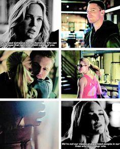 Arrow - Sara, Oliver and Felicity #Olicity ♥