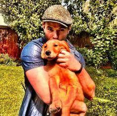 Kellan Lutz and the dog Bailey