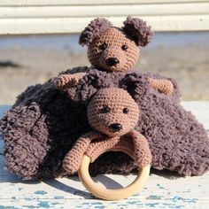 Coco on Cosy Blanket and Wooden Ring from Go Handmade - makeup Crochet Stitches Patterns, Crochet Patterns Amigurumi, Amigurumi Doll, Crochet Toys, Easter Crochet, Crochet For Kids, Crochet Baby, Crochet Ideas, Free Rabbits