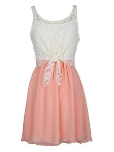 Girly: Lace Tie-Front Dress  - Seventeen.com
