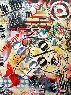 Acrylbild 'Trash II' - Angelika Rump