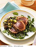 Soy-Lime Marinated Grilled Tuna with Cucumber Salad - Oprah.com