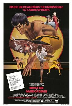 Watch Game of Death full hd online Directed by Robert Clouse, Bruce Lee. With Bruce Lee, Gig Young, Colleen Camp, Dean Jagger. A martial arts movie star must fake his death to find the people Kung Fu Martial Arts, Martial Arts Movies, Martial Artists, Cinema Tv, Cinema Posters, Film Movie, Lee Movie, Hugh O'brian, Gig Young