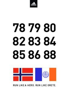 Grete didn't stop after her first big marathon win. She won nine times, more NYC marathon victories than any other runner. Each of these numbers represents a year Grete won. If Grete inspires you to run like a hero, make this your profile pic.