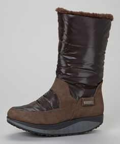 Take a look at this Brown Runner Boot by PINKY FOOTWEAR on #zulily today!