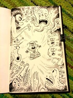 Sketchbook scribbles!  Some nonsense to enjoy along with your Saturday morning cartoons!