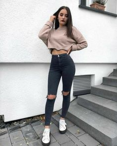 Cute Summer Outfits, Cute Casual Outfits, Simple Outfits, Stylish Outfits, Teenage Outfits, Outfits For Teens, Girl Outfits, Tube Top Outfits, Cute Crop Tops