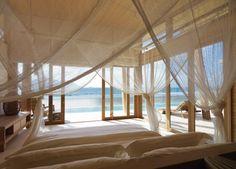 Romantic Bedroom Design in Six Senses Con Dao Vietnam