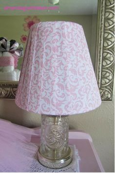 Lampshade Makeover with Ribbon (for a new baby's room) -- Retro Re-Pin Party 29