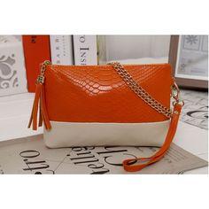 bddd02414 Bolsos de clutch de cuero de cocodrilo original bolso bandolera pequeño con  cadena