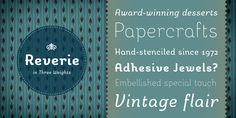 {fonts} reverie - gorgeous! like archer but not as expensive...